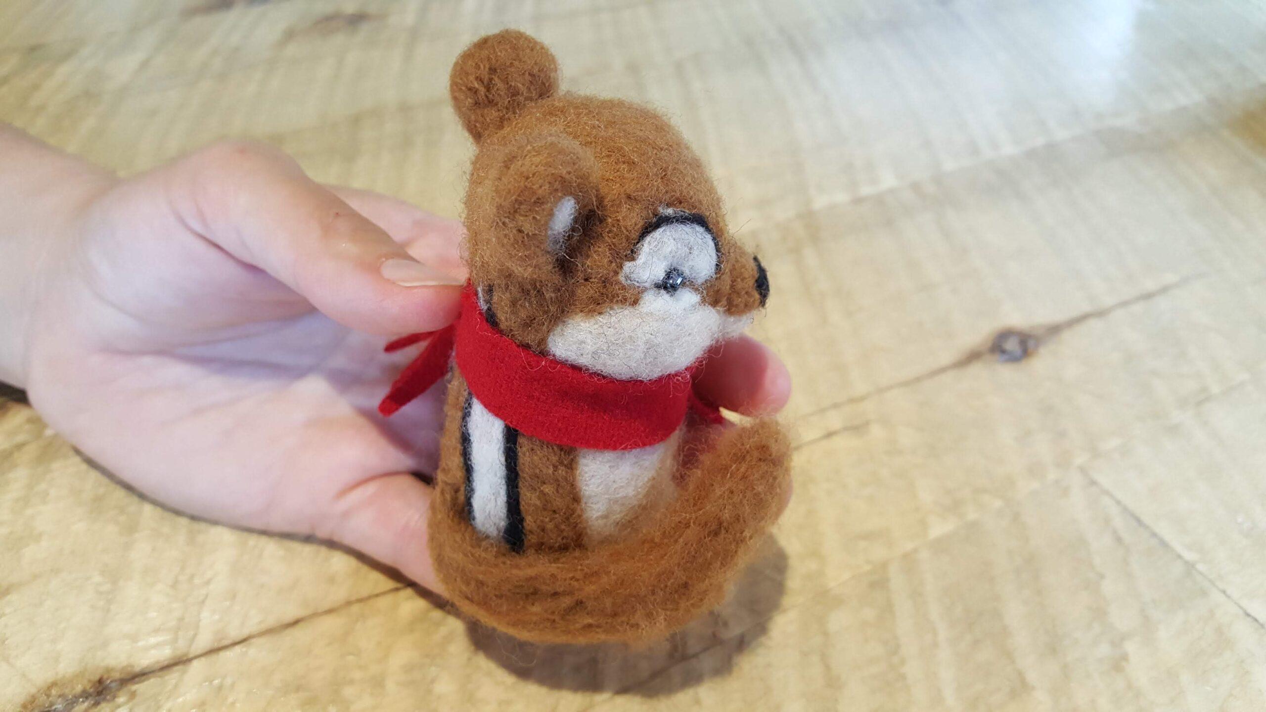 felted chipmunk