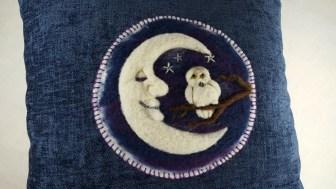 Owl Moon pillow