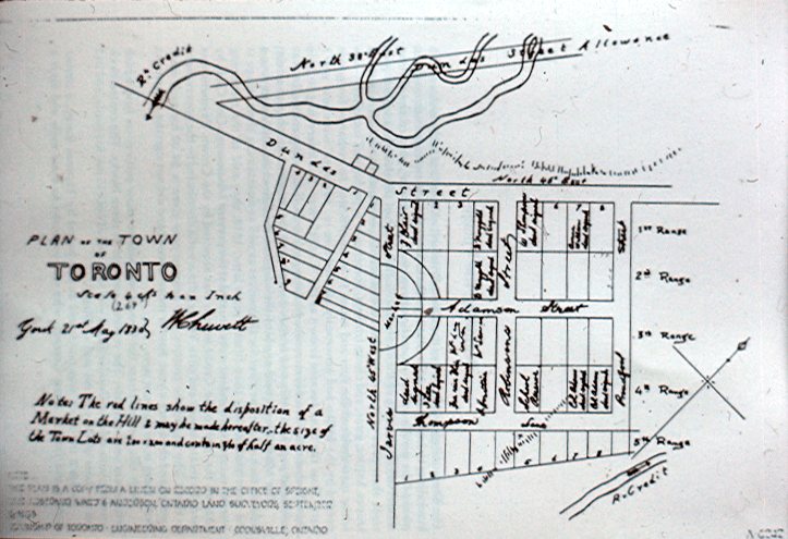 Chewitt Survey Plan of Toronto - Erindale Village - 1830
