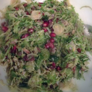 Brussels with Pomegranate seeds