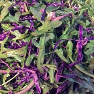 Purple Reigns: Purple Cabbage & Arugula Salad