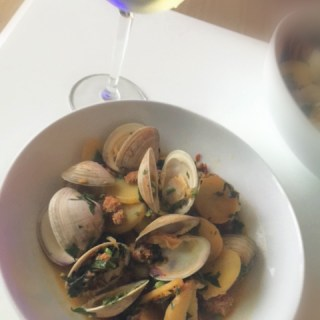 One Pot Clams and Chorizo
