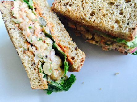 Lunch: Mediterranean Chickpea Spread
