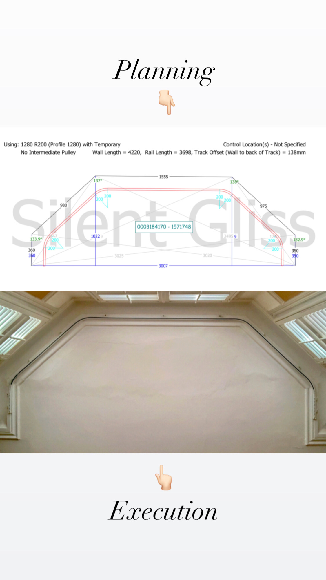 Challenging Coving fit SG 1280 Rail from Planning to Execution