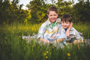Seattle family photographer and two young boys