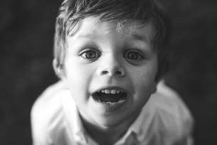 Boy smiling at Seattle family photographer and Issaquah family photographer