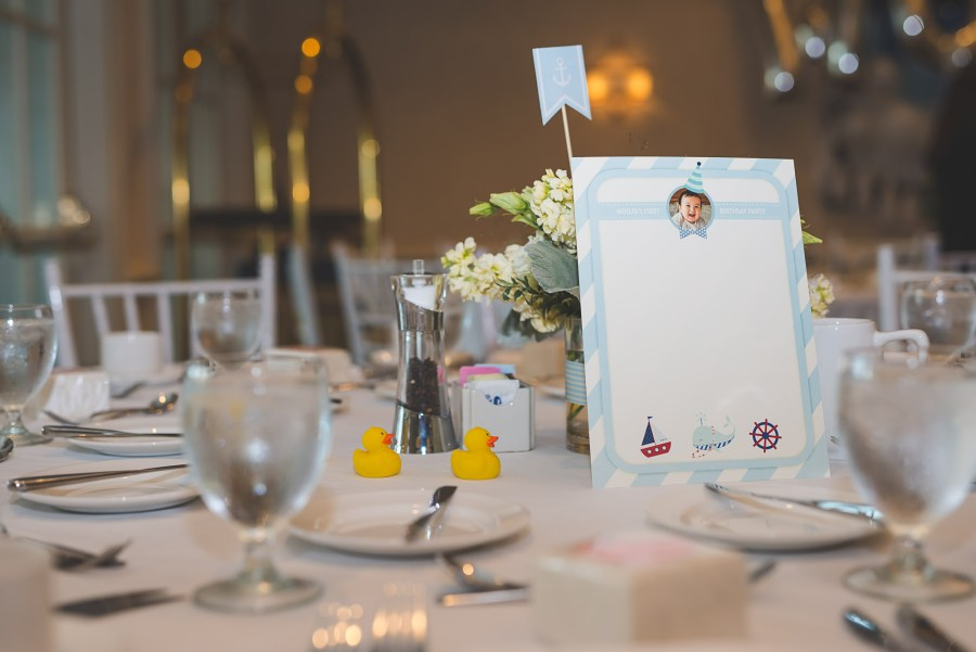 close up view of a place card on a party table