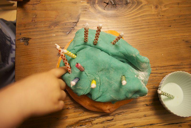 playdough birthday cake 6
