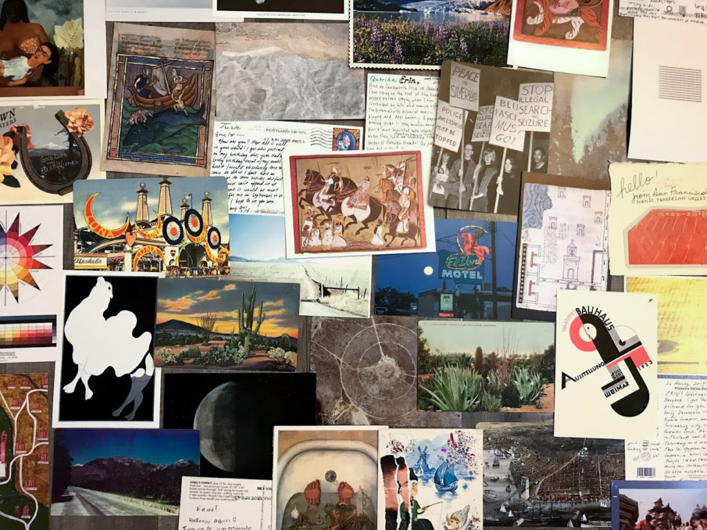 Postcard Exchange project collage 2020