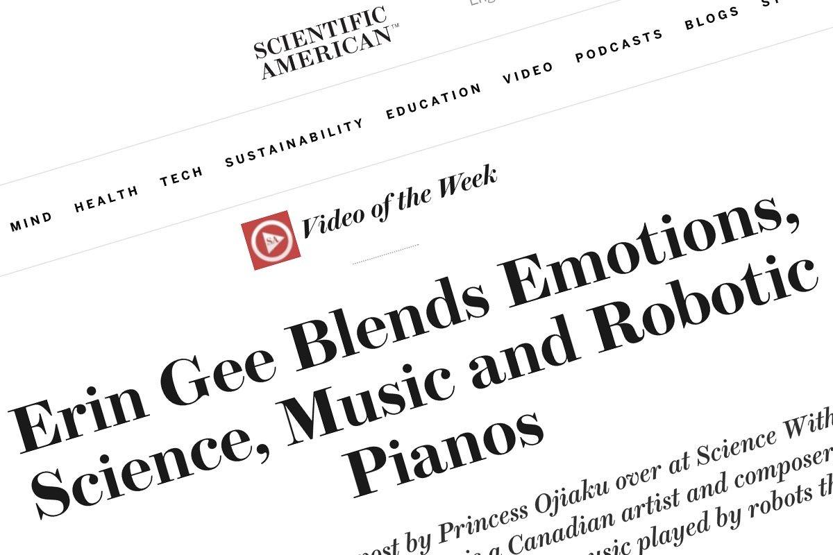Erin Gee - Scientific American Blog