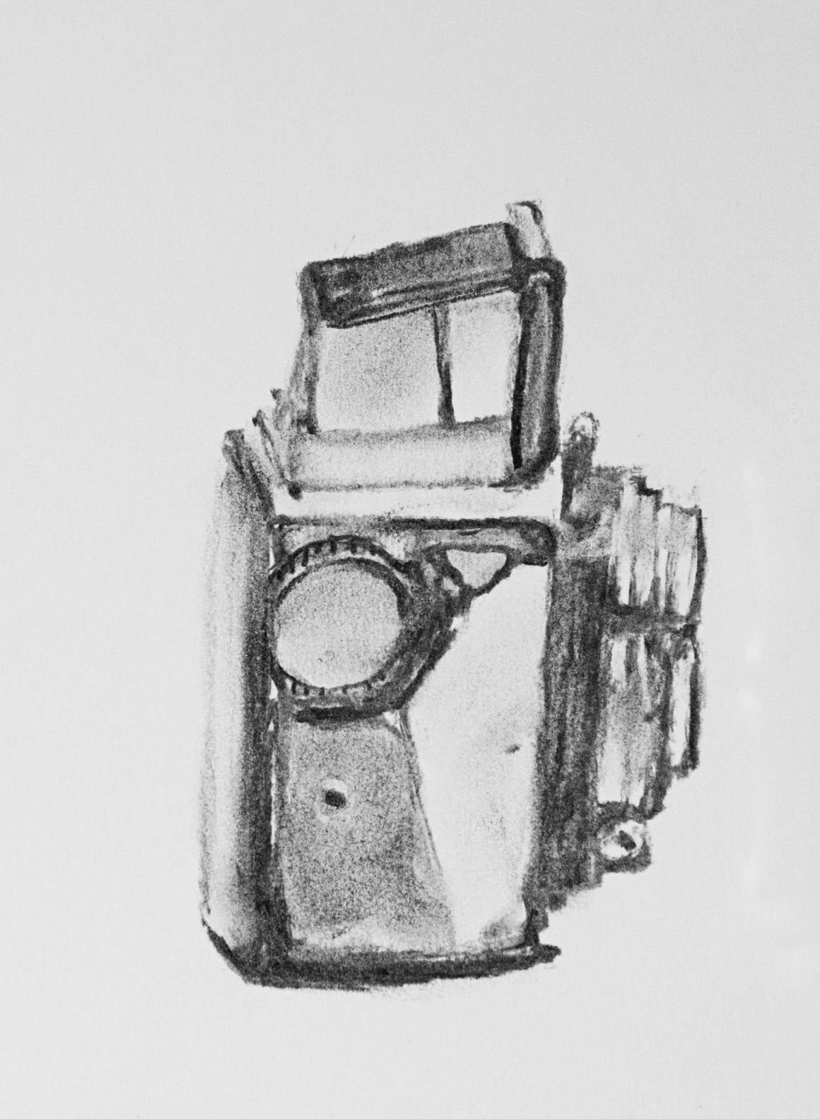 Coffee Sketch #2, created 1/12/16.  Baby Rolleiflex, 1957.