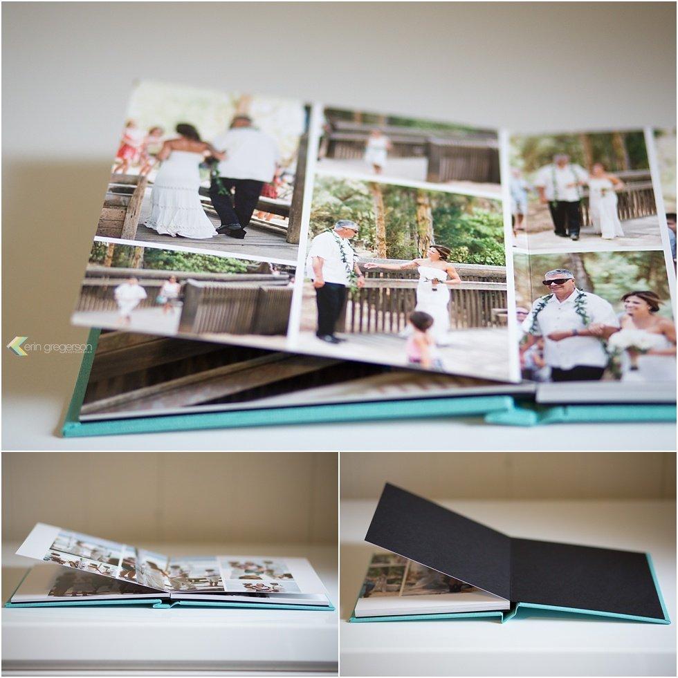 Linen aqua photo album sample images