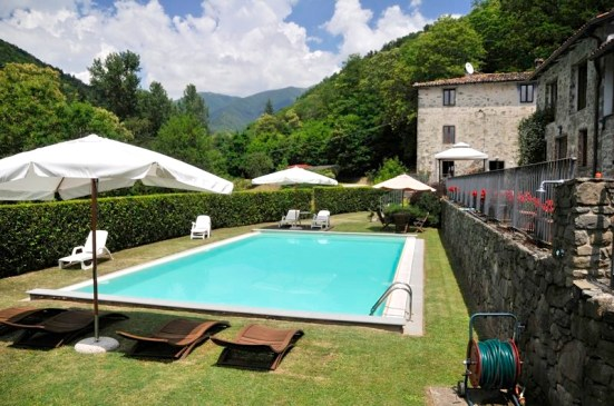 Our swimming pool at Val di Pozza