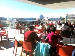 MCA cafe outside terrace