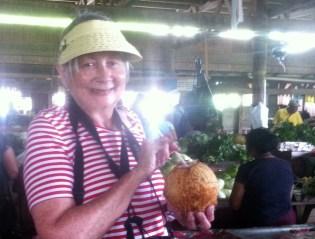Jenny C, the coconut girl