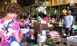 Margaret Sketching the Market