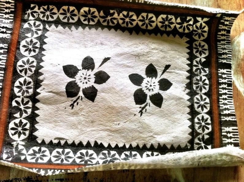 Two flower stencil