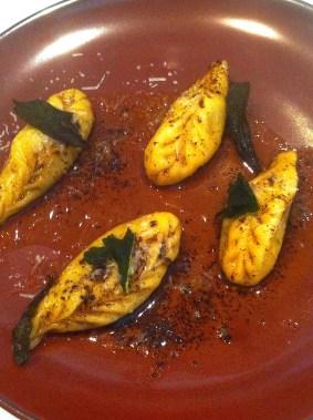 Ravioli of potato, mint etc