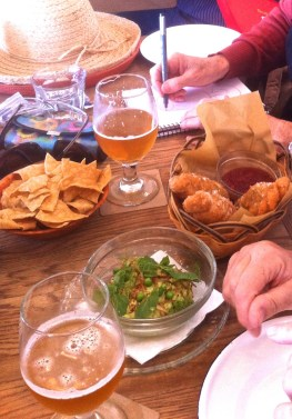 Mexican Lunch with a beer