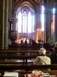 Interior Basilique Saint-Nazaire. Old Cite Carcassonne