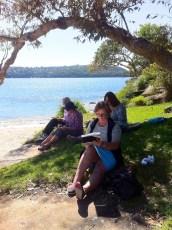 Tuesday Week 10. Beach sketching