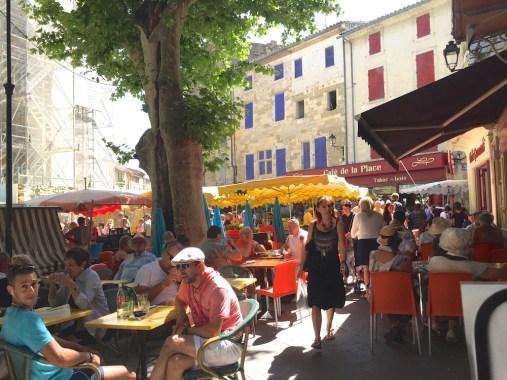 Sunday. cafes and market
