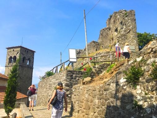 Tuesday. Climbing high at Sommocolonia