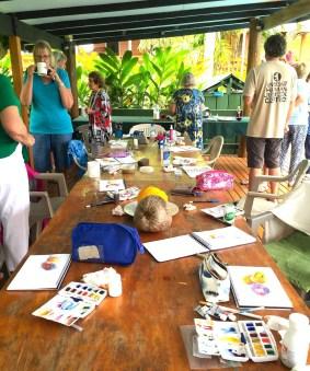 Monday Fiji. First watercolours