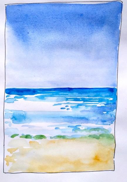 Sample for sea sky & sand