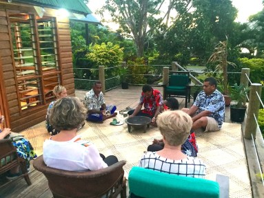 Saturday Fiji. Beginning the Kava Ceremony