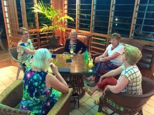 Saturday Fiji. Drinks before Welcome dinner