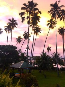 Saturday Fiji. Evening sky