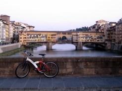 Stranded Bike along Arno River