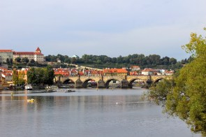 First view of Charles Bridge