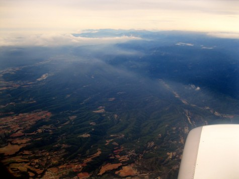 View from plane ride to Barcelona