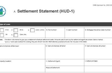 let's talk : UNDERSTANDING THE HUD STATEMENT