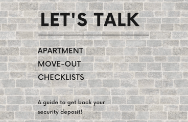 let's talk: APARTMENT MOVE-OUT CHECKLISTS