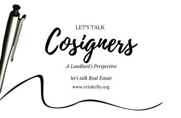let's talk: COSIGNERS – A LANDLORD'S PERSPECTIVE