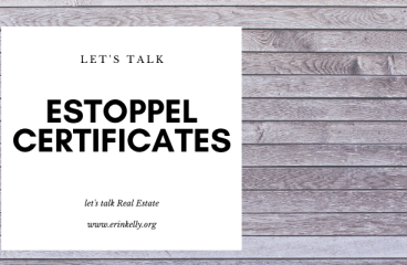 let's talk: ESTOPPEL CERTIFICATES