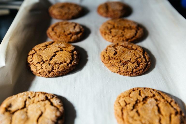 Gingersnap Cookies Cookie Swap Erin Kestenbaum