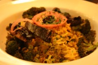 A little blurry due to low lighting, but the James Curry was filling. I wouldn't call it a small plate at all.