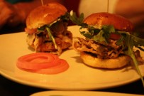 The Sardine Room's porchetta (boneless pork) sliders.
