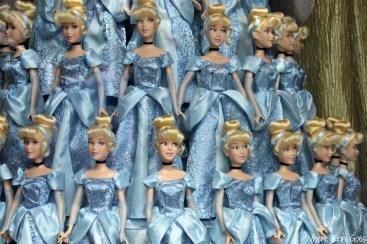 Cinderella dolls in a World of Disney window display at Downtown Disney. (Photo by Erin Klema)