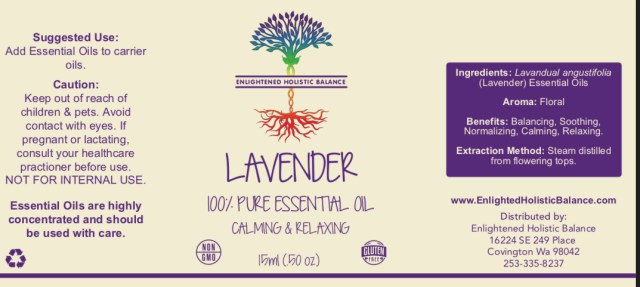 Lavender Essential Oil (15 ml) - Enlightened Holistic Balance