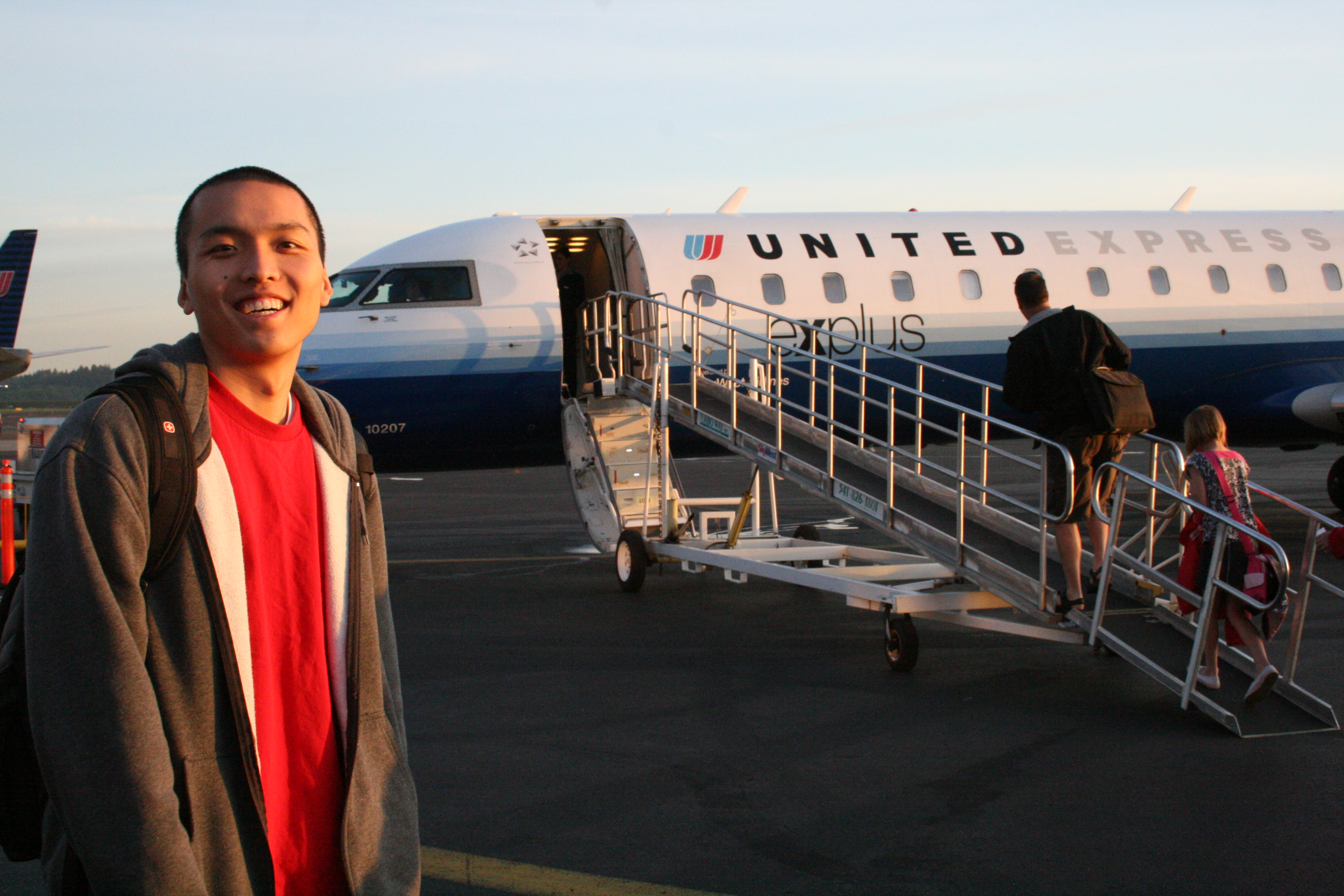 Yeah, Ricky and I chartered a lear jet for the two of us.