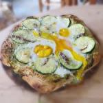 Courgette and Egg Pizza