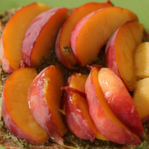 Peach and Pesto