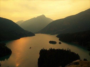 Ross Lake through the Smoke