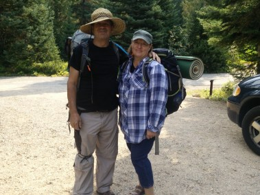Dad & Marianne trying out the Hikertrash Life!