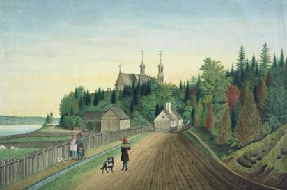 A View of Château-Richer Church near Quebec in Canada, Taken in 1788, 1788. Thomas Davies, watercolour over graphite on laid paper (34.3 x 51.8 cm). NGC Accession no. 6279